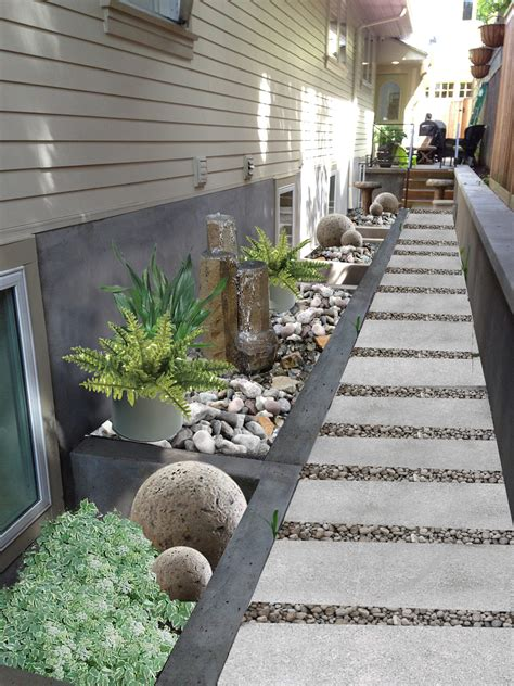landscaping ideas for the side of the house garden design in irvington portland oregon