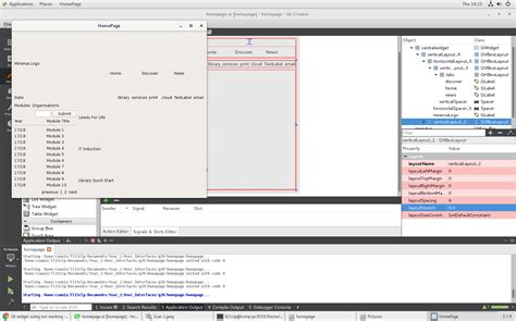 qt designer mainwindow layout layout differences between qt designer and running program
