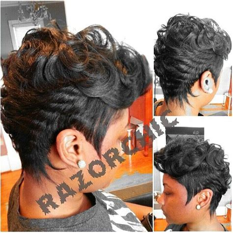 african american razor cut bob 259 best images about hair black short sexy on pinterest