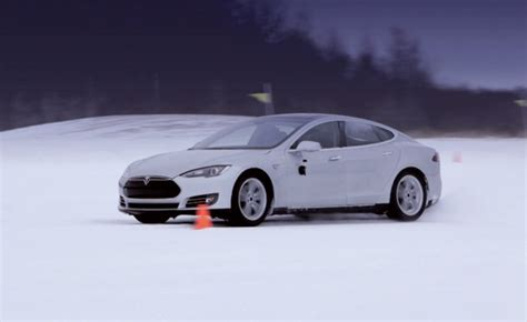 Tesla In Cold Weather Tesla Model S Goes Cold Weather Testing