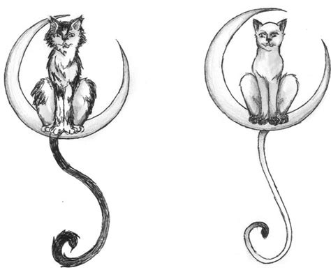 cat moon tattoo designs cat in moon tattoos by kaaji13 on deviantart