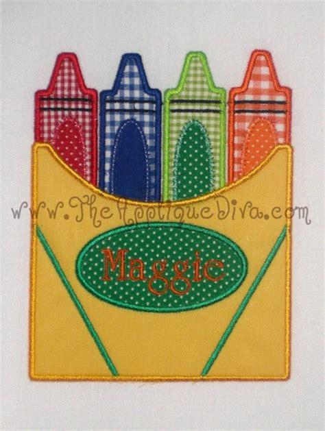 crayons designs back to school crayon box embroidery design machine applique