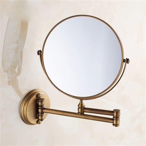 Free Shipping European Style 8 Inches Double Side Antique Brass Bathroom Mirrors