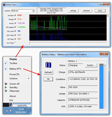 hp battery capacitor status recharging 5 tools to get status information about your laptop battery raymond cc