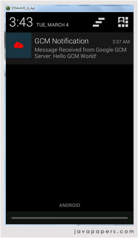 gcm android cloud messaging gcm for android and push notifications java tutorial