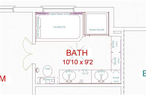 bathroom renovation floor plans bat remodeling floorplans over 5000 house plans