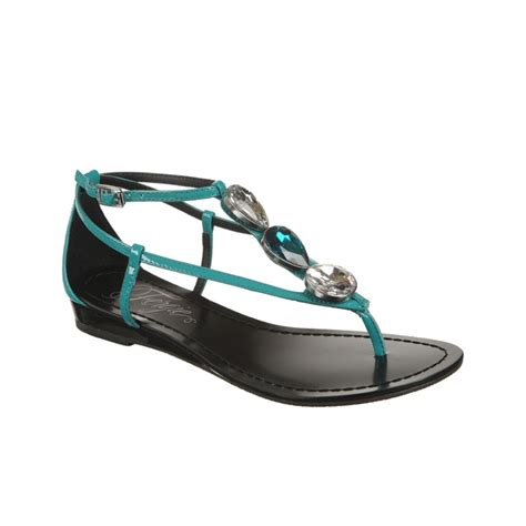 fergie sandals fergie trixter wedge sandals in green turquoise lyst