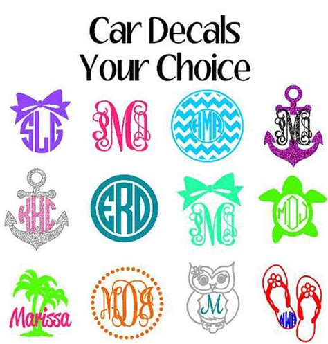 Auto Initial Decals by Car Decals For Girls Initials Pictures To Pin On Pinterest