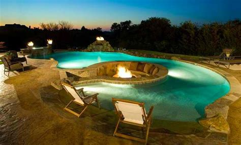 pool pit water combo in 15 traditional pools with pits