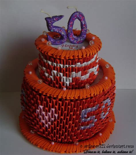 3d Origami Cake - 755px
