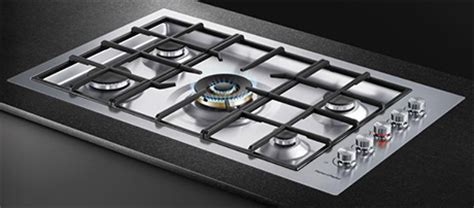 fisher paykel gas cooktops fisher paykel 36 quot flush gas on steel cooktop