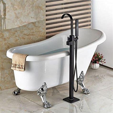 modern freestanding bathtub faucet tub filler rubbed