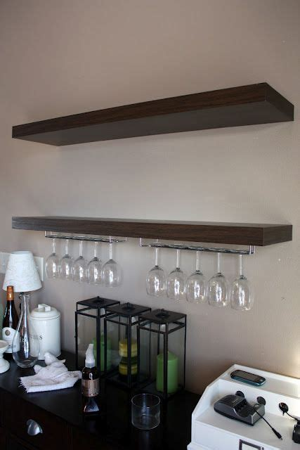 wine glass rack organising pinterest