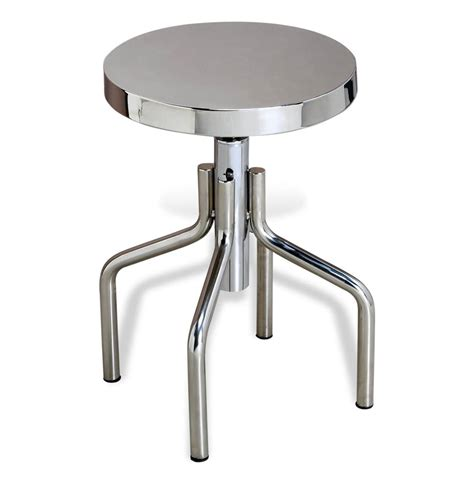 steel accent table rocky industrial polished stainless steel stool accent table