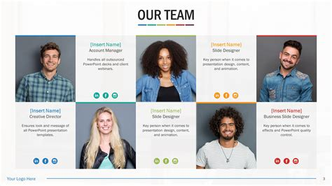 Team Biography Slides For Powerpoint Presentation Templates Slidestore Biography Powerpoint Template