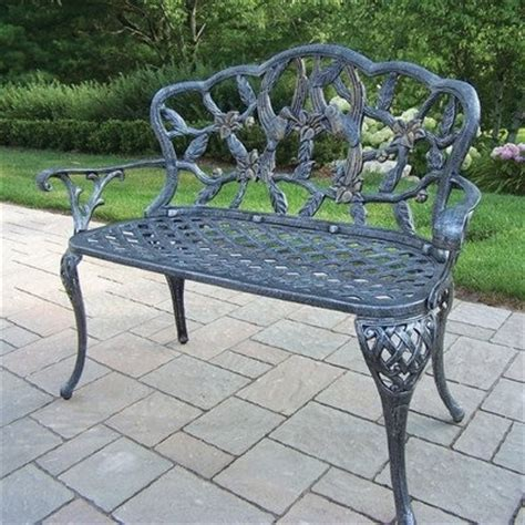 hummingbird garden bench oakland living hummingbird antique pewter loveseat bench