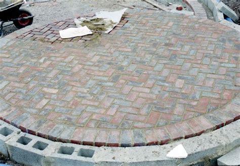 circular brick patio brick patio