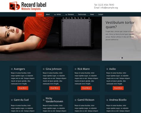 Record Label Wordpress Theme Wordpress Theme For Label Owners Record Label Website Template