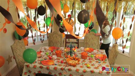 Themed Birthday Decorations by Basketball Theme Birthday Ideas
