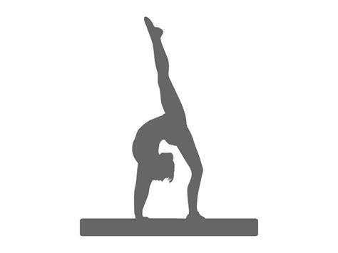 printable gymnastics stencils gymnastics beam stencil craftcuts com