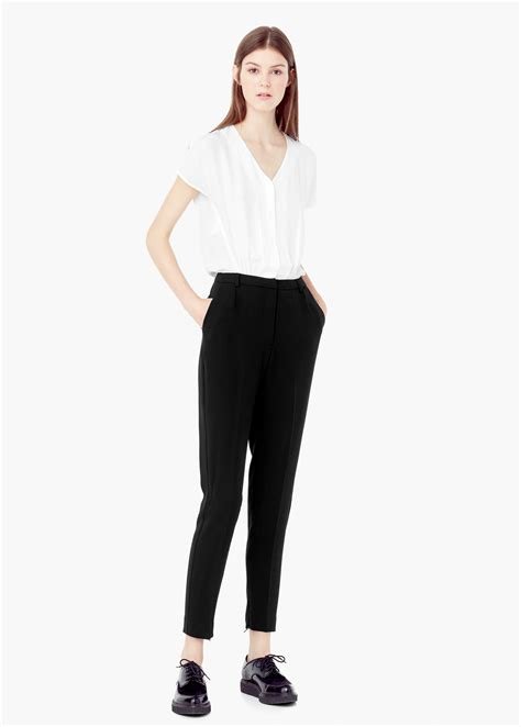 Jumpsuit Mango White by Lyst Mango Monochrome Jumpsuit In White