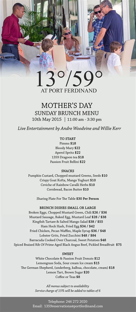 table 26 brunch menu designer tables reference