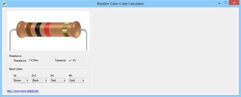 resistor color code calculator 1 0 resistor color code calculator 1 0 images