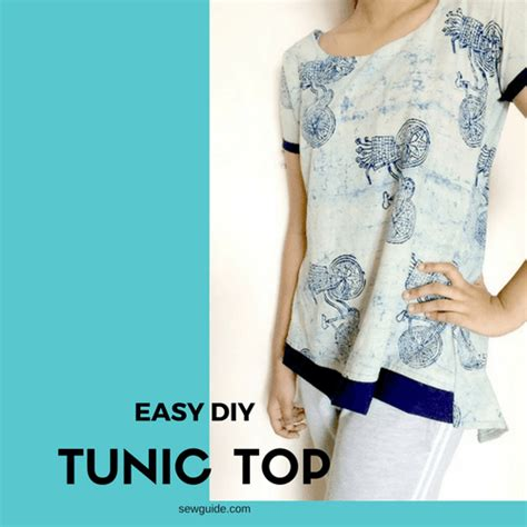 Minimal Embroidery Tunic sew a simple tunic top dress with free diy pattern