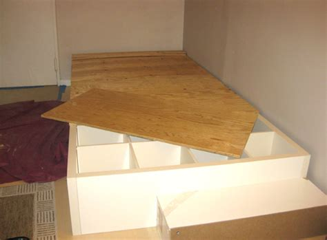 diy ikea bed diy how to make your own storage bed using a repurposed