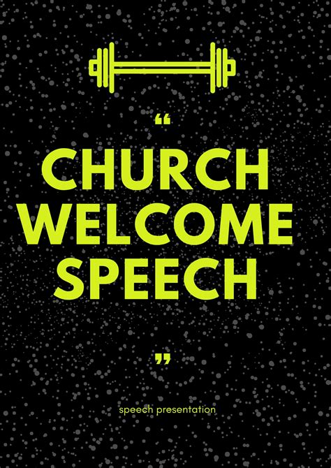 church revival welcome speech