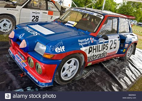 renault 5 turbo group b 1983 renault 5 maxi turbo group b rally car in the paddock