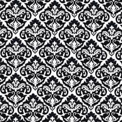 Black Baroque Wallpaper Vintage wallpaper pattern in