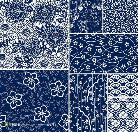japanese pattern wind 中国穿啦蜡染花草植物花纹底纹图案 素材公社 tooopen com