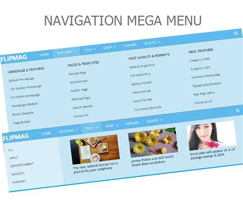 newspaper theme mega menu flip mag responsive wordpress news theme by octocreation
