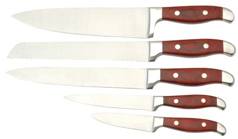 5pcs kitchen knife set with wooden handle products china