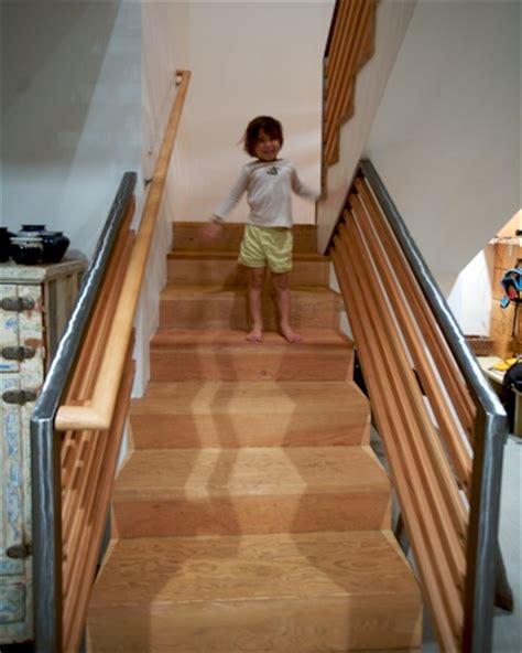 sandblasted stairs custom cabinetry woodwork design