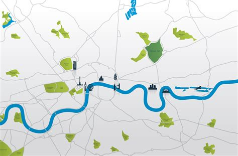 map of river thames central london london map river thames