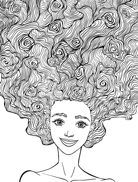 coloring pages hair 10 crazy hair adult coloring pages page 10 of 12 adult