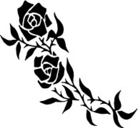 rose branch tattoo roses branch vector free