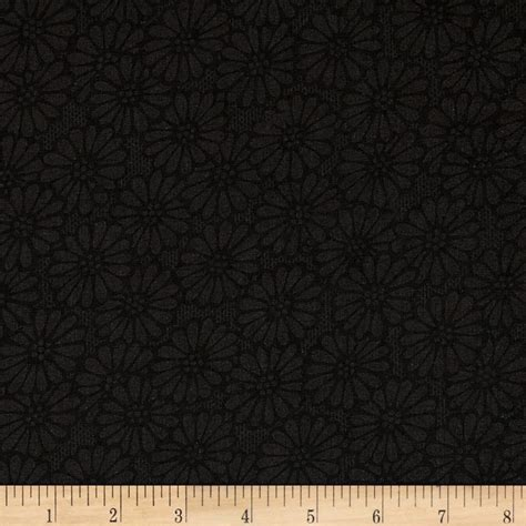 backing fabric for upholstery 110 quot wide quilt backing daisies black discount designer