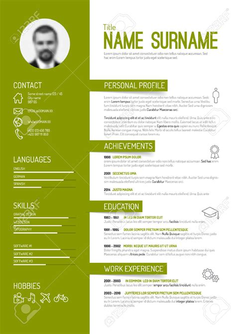 Cv Template Foto Pin By Joanna Golawska On Cv Cv Design