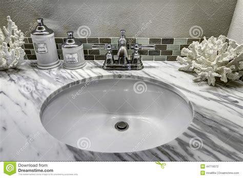 Granite Bathroom Vanity Top With Sink - bathroom vanity cabinet with white granite top sink and decorat stock photo image 44716072
