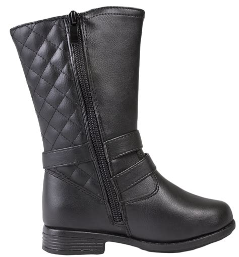 Faux Leather Mid Calf Boots faux leather fur ankle mid calf boots flower