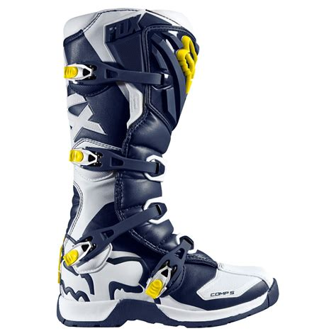 fox comp 5 boots 2016 fox mx youth comp 5 boots white blue limited edition