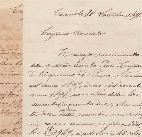 pisa lettere lettere manoscritte datate terricciola 1898 e 1900 inviate