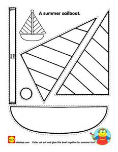 sailboat template for preschool crafts activities and sailboats on