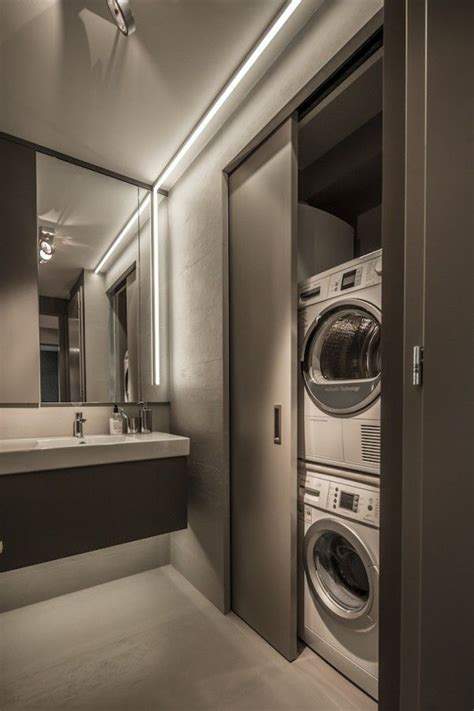 small bathroom design hide  washer  dryer