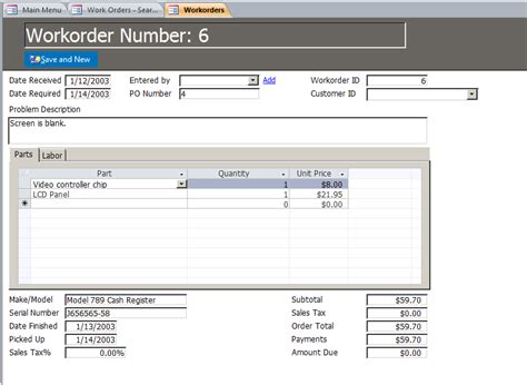 work order database template microsoft access enhanced work order management database