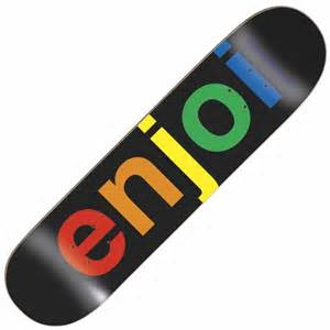 skatebord decks enjoi skateboards enjoi spectrum black skateboard deck 8 0