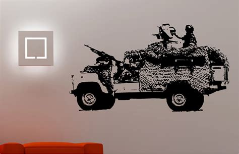 jeep army decals army jeep soldier wall art sticker bedroom kids childrens